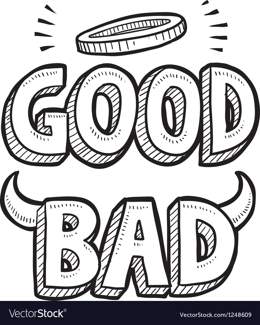 Good and bad vector | Price: 1 Credit (USD $1)