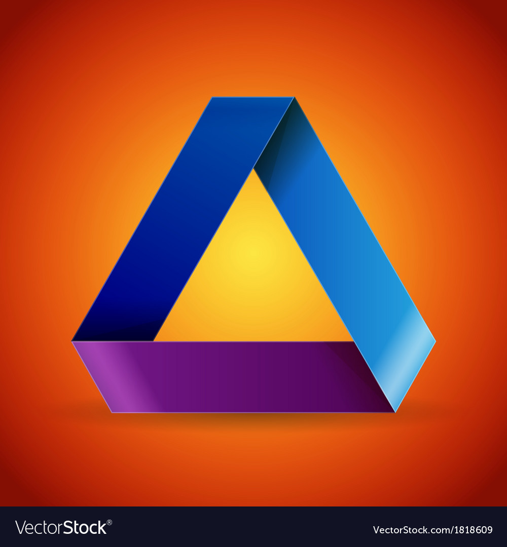 Moebius origami colorful paper triangle vector | Price: 1 Credit (USD $1)