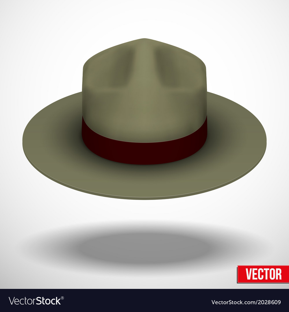 Ranger hat khaki green color vector | Price: 1 Credit (USD $1)