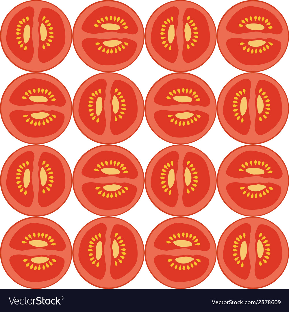Seamless tomato pattern vector | Price: 1 Credit (USD $1)