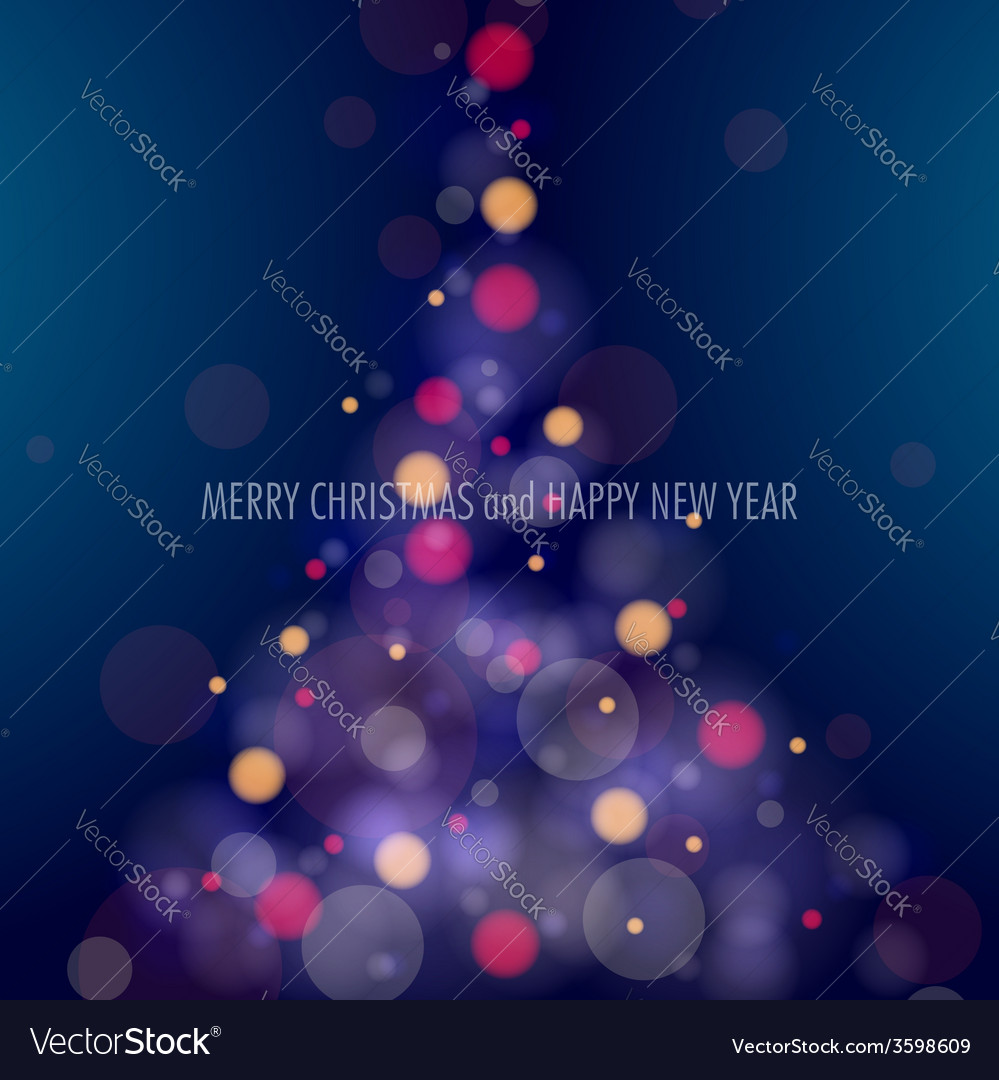 Shining christmas tree vector   Price: 1 Credit (USD $1)