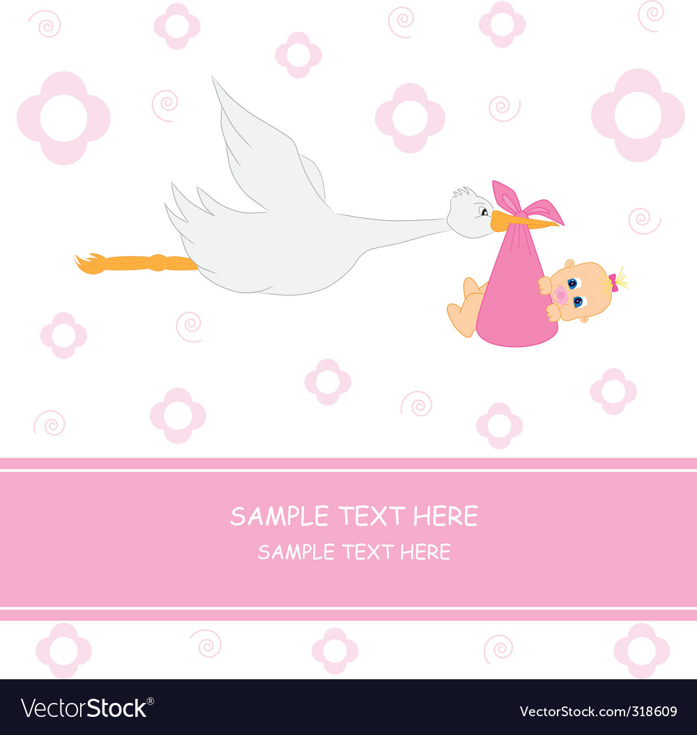 Stork girl vector | Price: 1 Credit (USD $1)