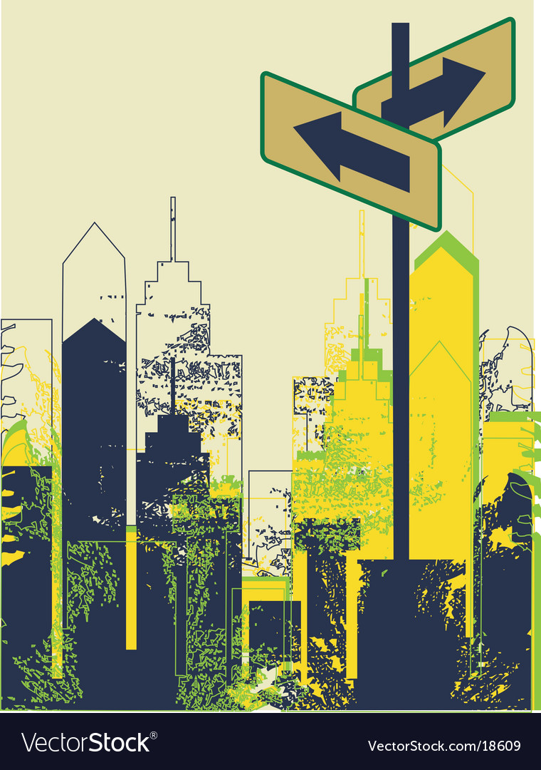 Urban street scene vector | Price: 1 Credit (USD $1)