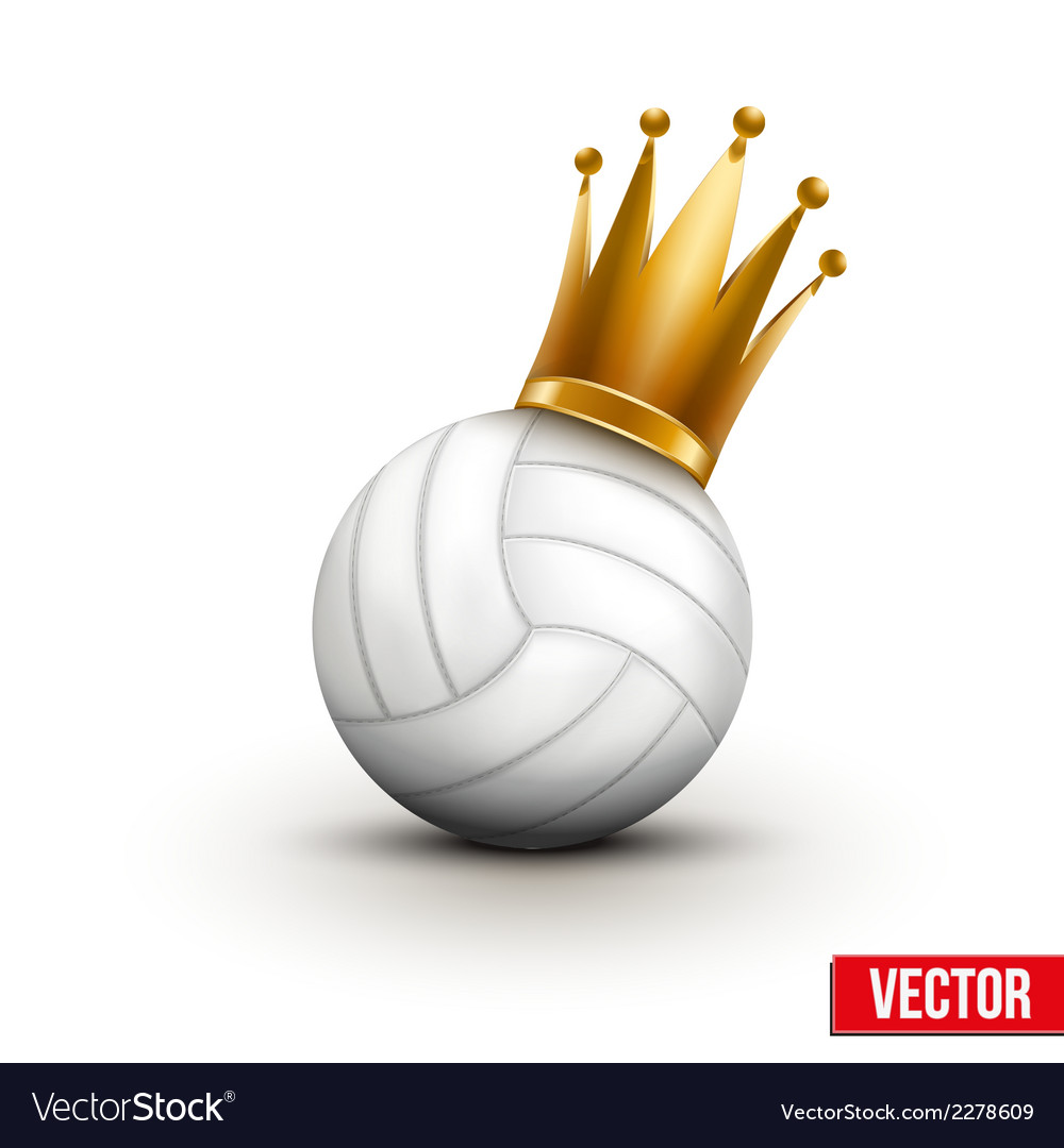 Volleyball ball with royal crown of princess vector | Price: 1 Credit (USD $1)