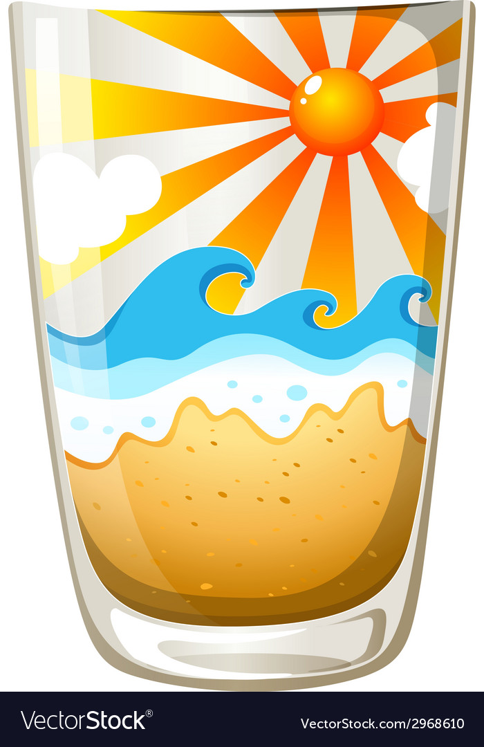 A glass with a touch of summer vector | Price: 1 Credit (USD $1)