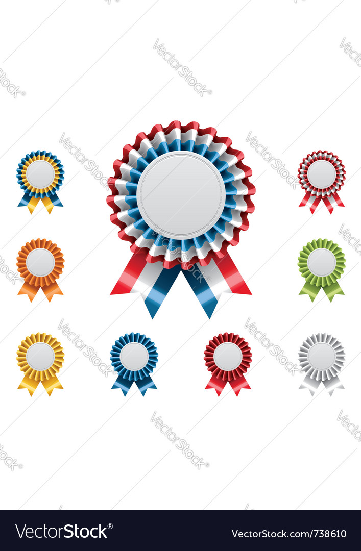 Award badges set vector | Price: 3 Credit (USD $3)