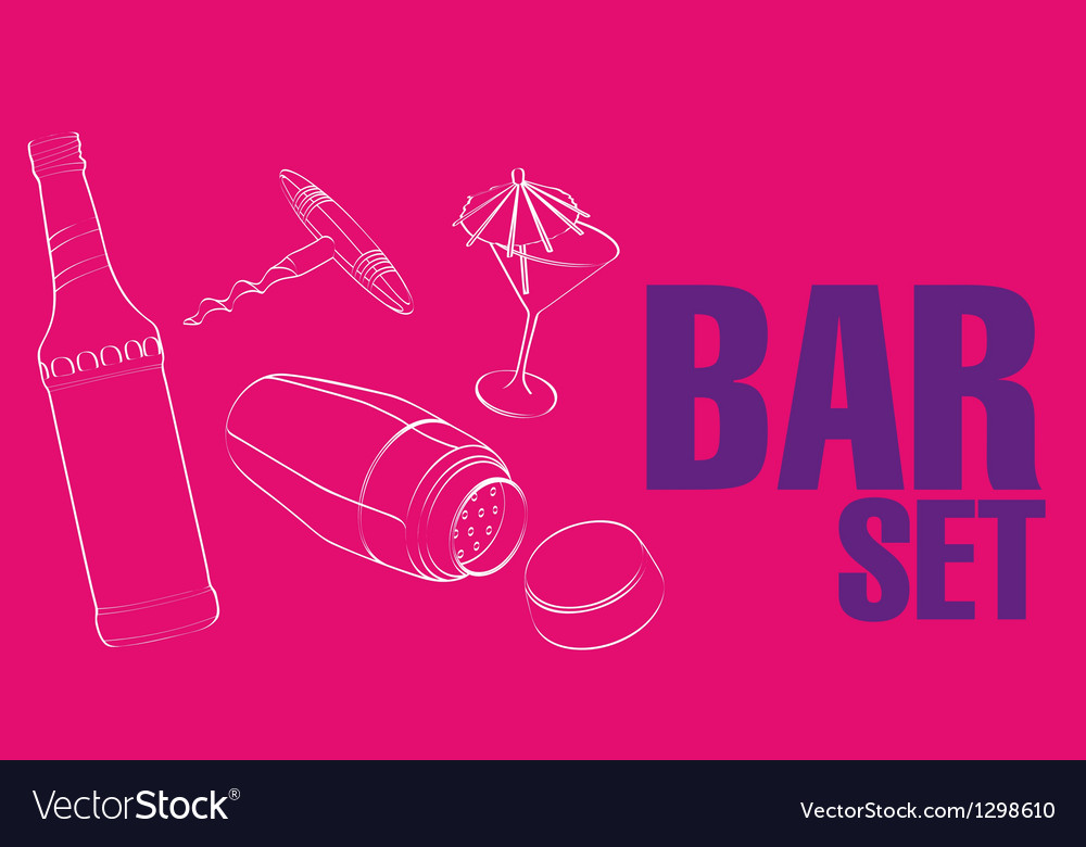 Bar  restaurant theme vector | Price: 1 Credit (USD $1)