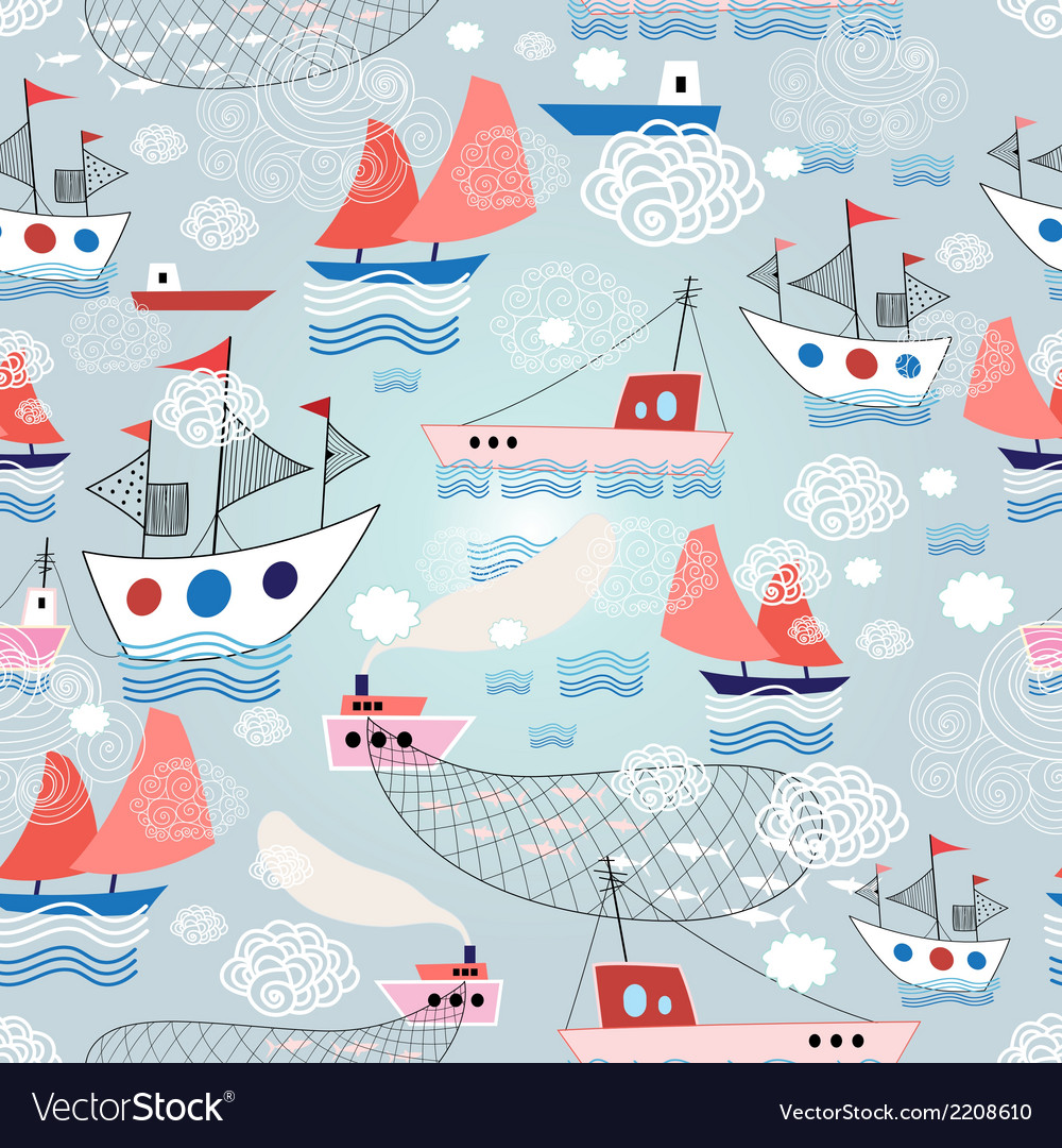 Color pattern with different ship vector | Price: 1 Credit (USD $1)