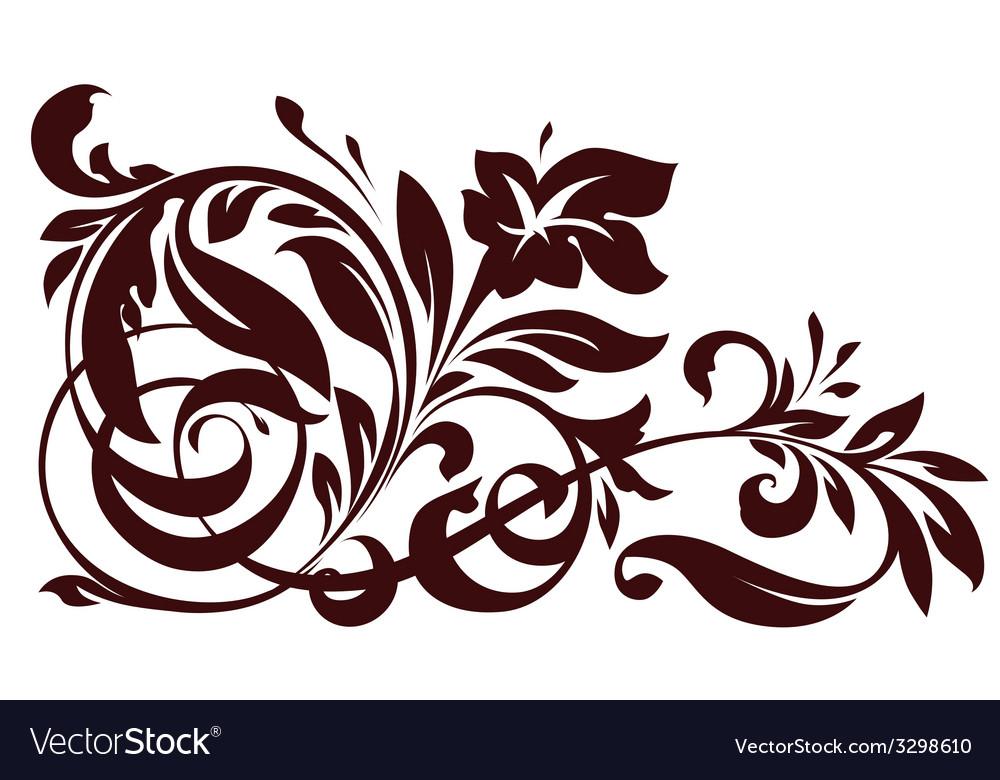Floral element for design vector   Price: 1 Credit (USD $1)