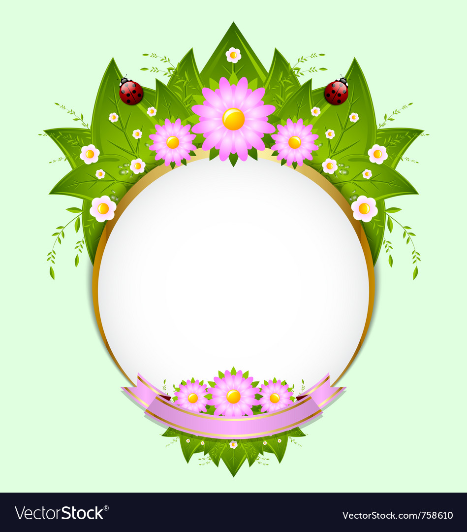 Floral spring decoration vector | Price: 3 Credit (USD $3)