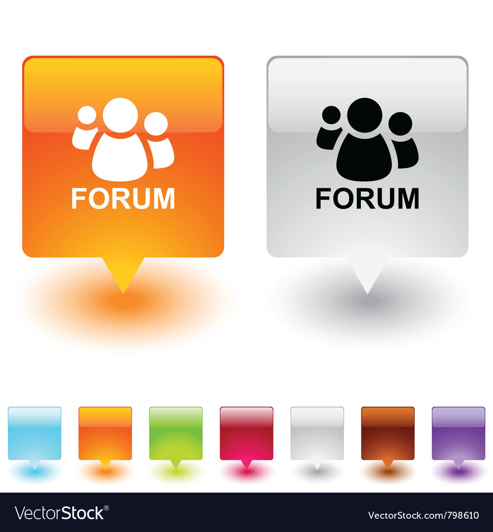 Forum square button vector | Price: 1 Credit (USD $1)