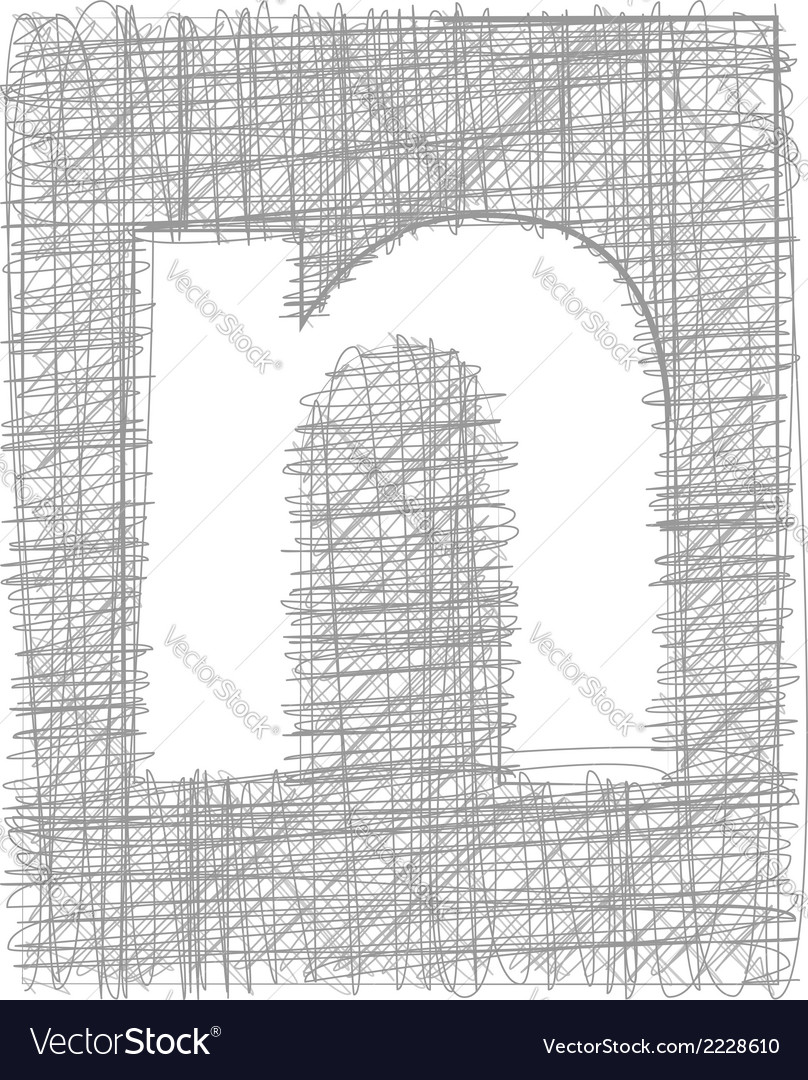 Freehand typography letter n vector | Price: 1 Credit (USD $1)