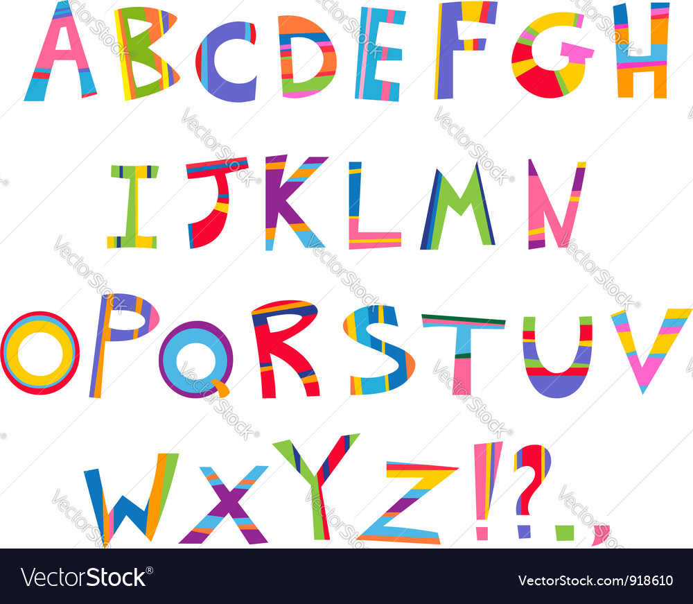 Fun alphabet vector | Price: 1 Credit (USD $1)