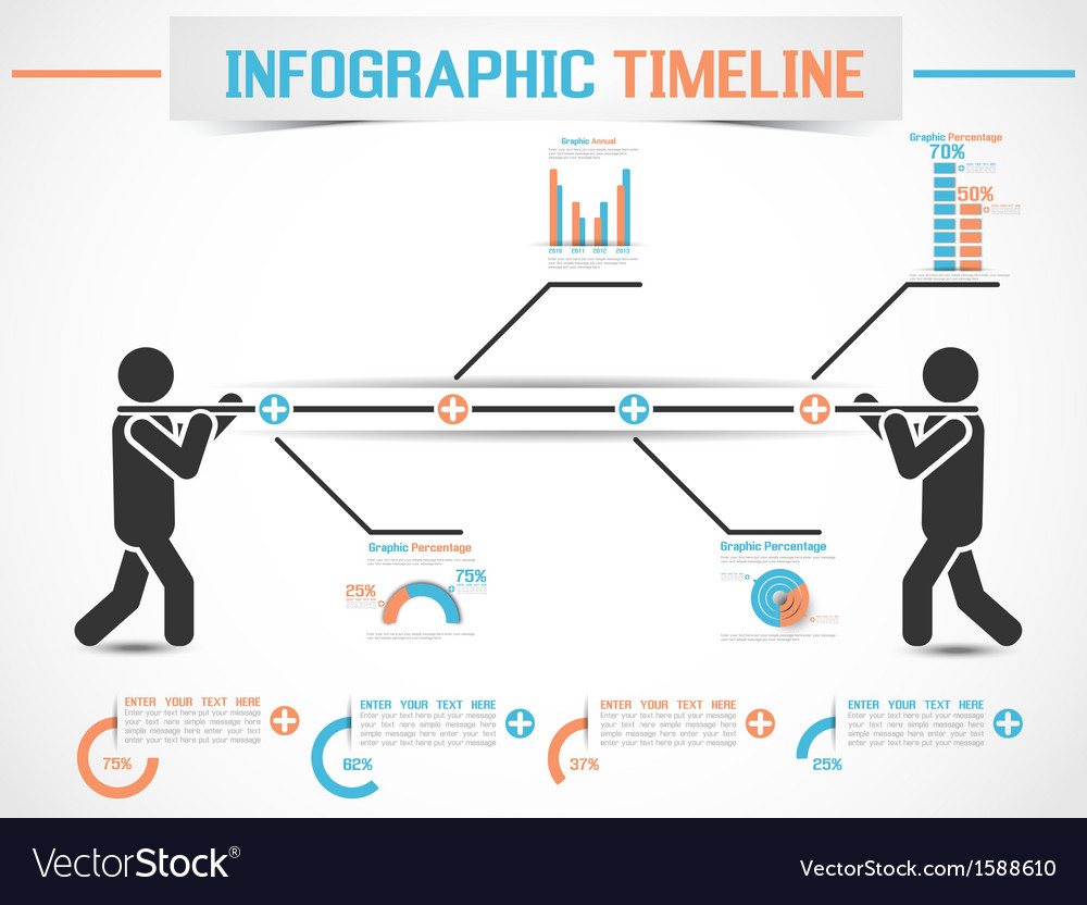 Infographic modern timeline man 2 vector | Price: 1 Credit (USD $1)