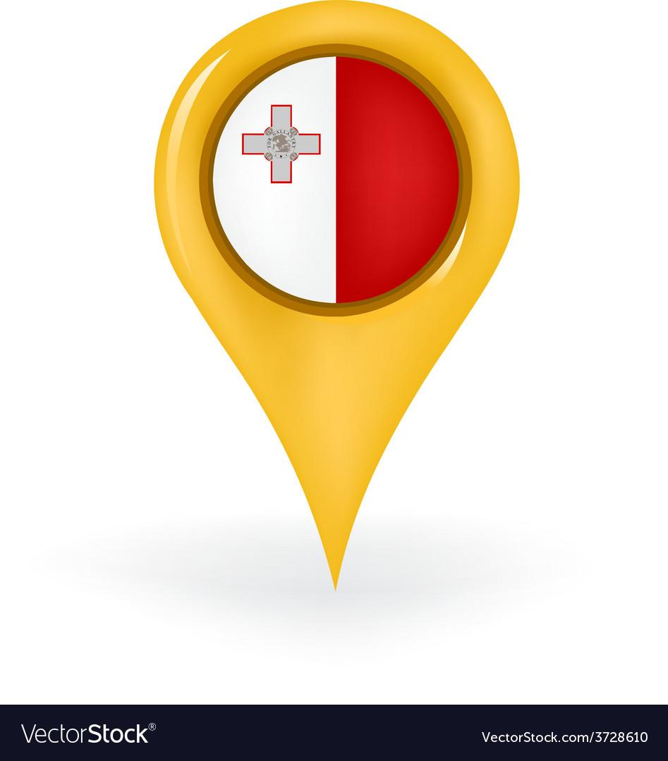 Location malta vector | Price: 1 Credit (USD $1)