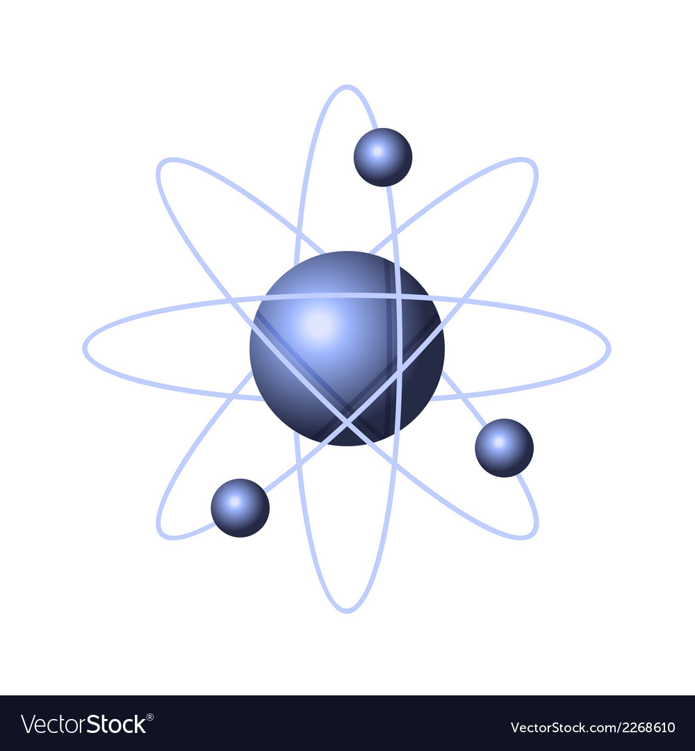 Model of abstract atom structure vector | Price: 1 Credit (USD $1)