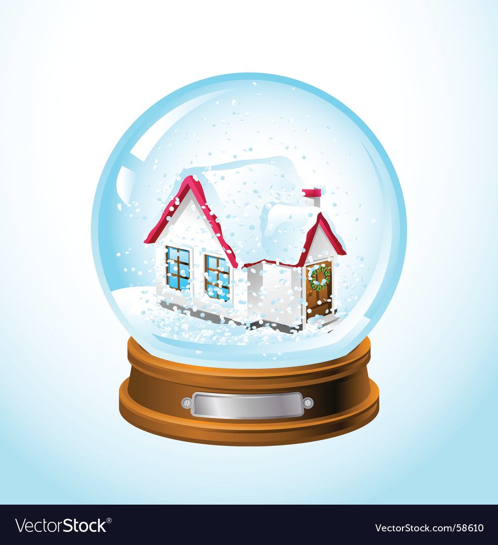 Snow globe home vector | Price: 3 Credit (USD $3)