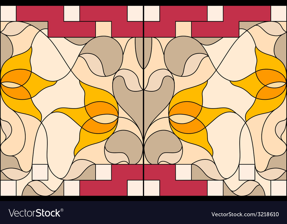 Stained glass window composition of stylized vector | Price: 1 Credit (USD $1)