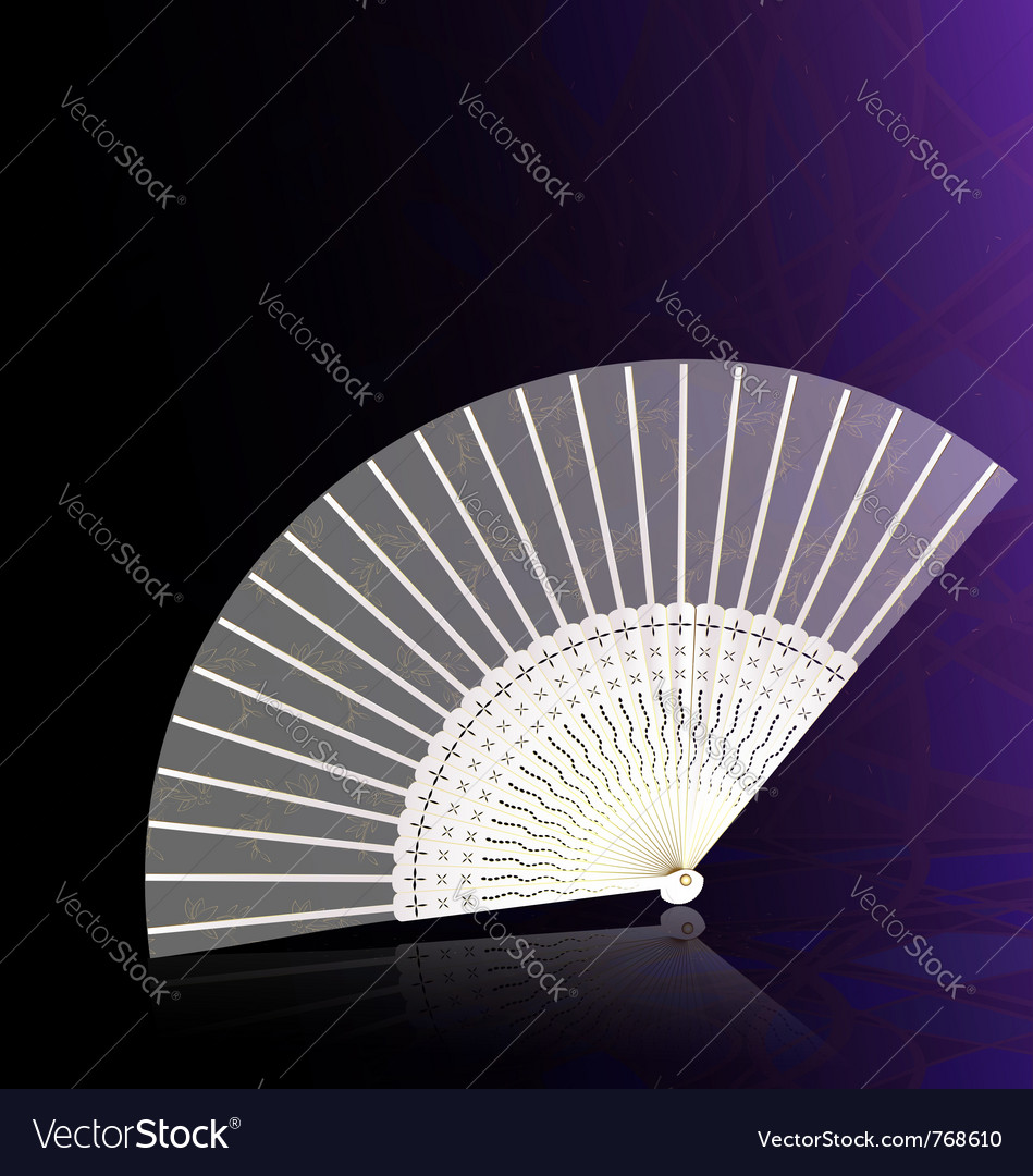 White-golden fan vector | Price: 1 Credit (USD $1)