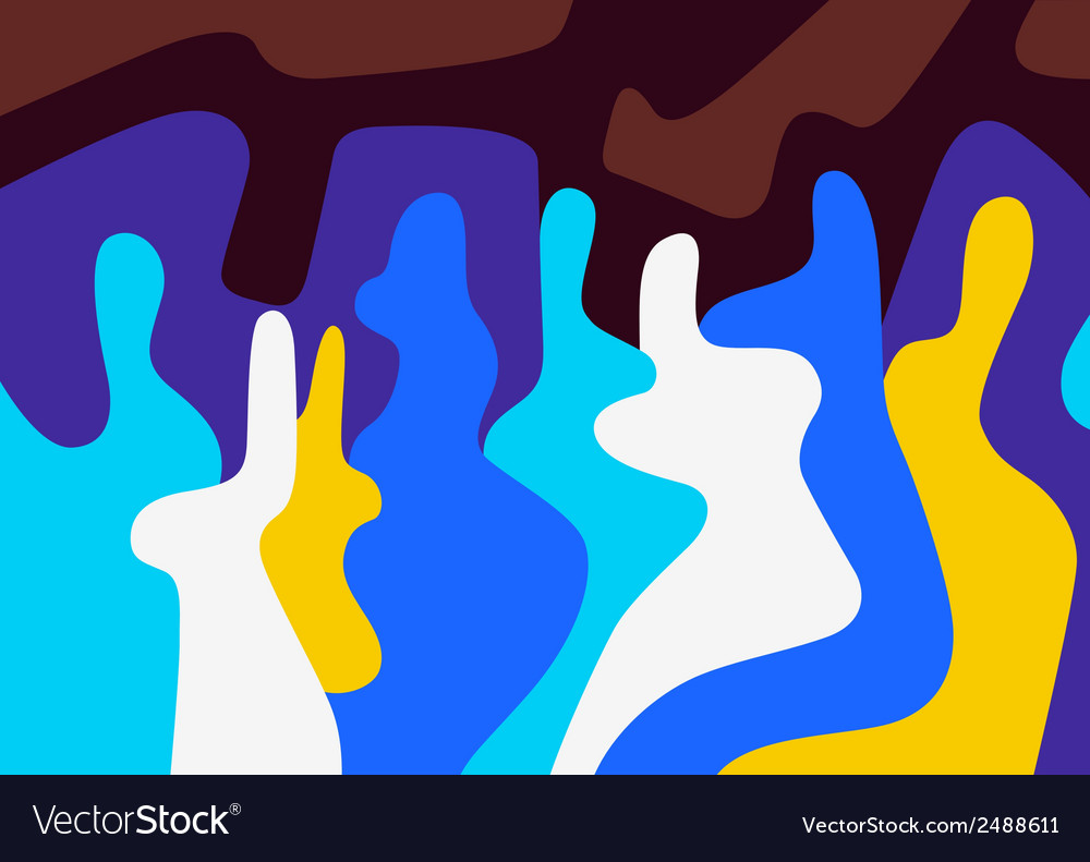 Abstract people vector | Price: 1 Credit (USD $1)
