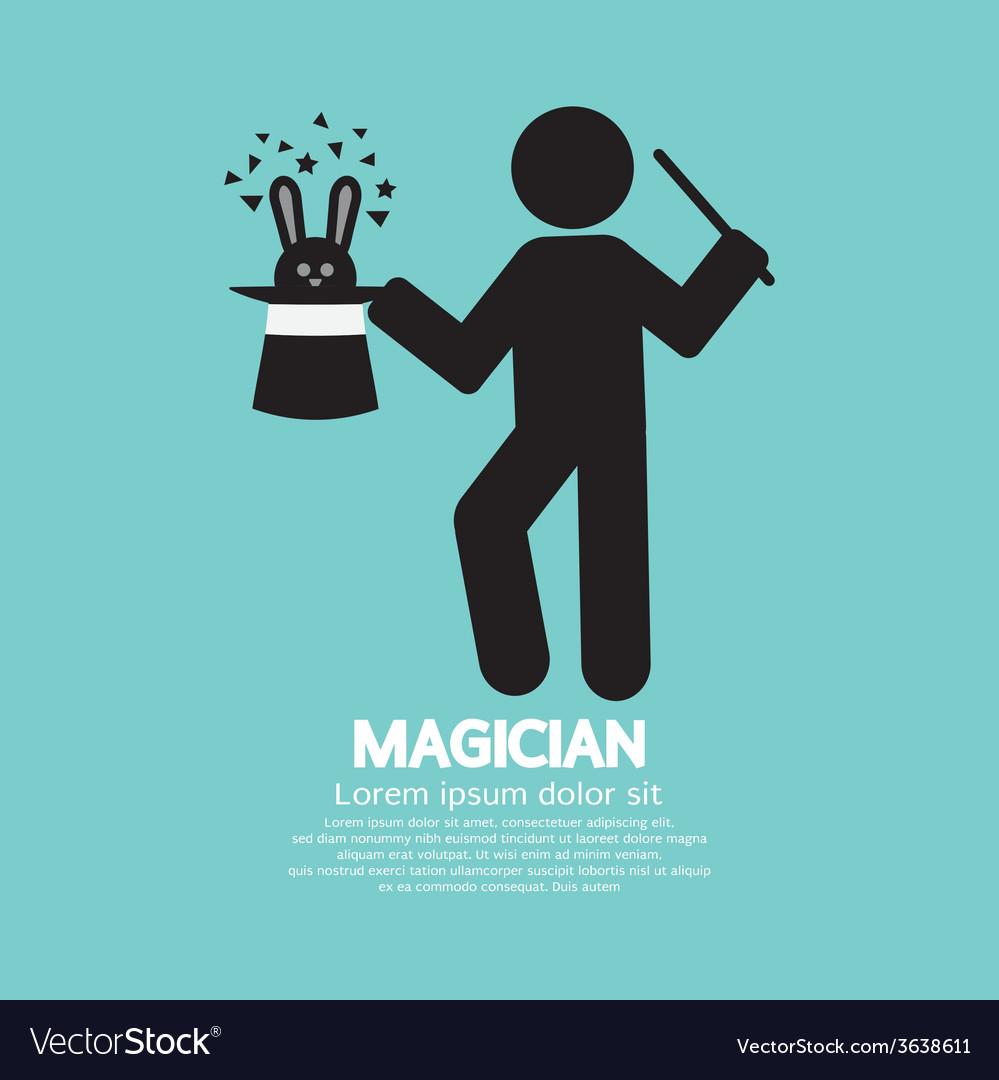 Black symbol graphic of magician vector | Price: 1 Credit (USD $1)