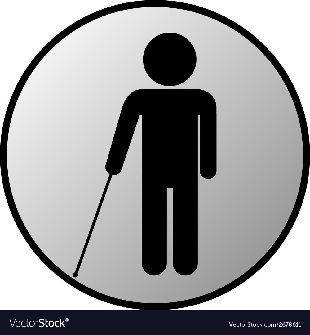 Blind disabled button vector | Price: 1 Credit (USD $1)