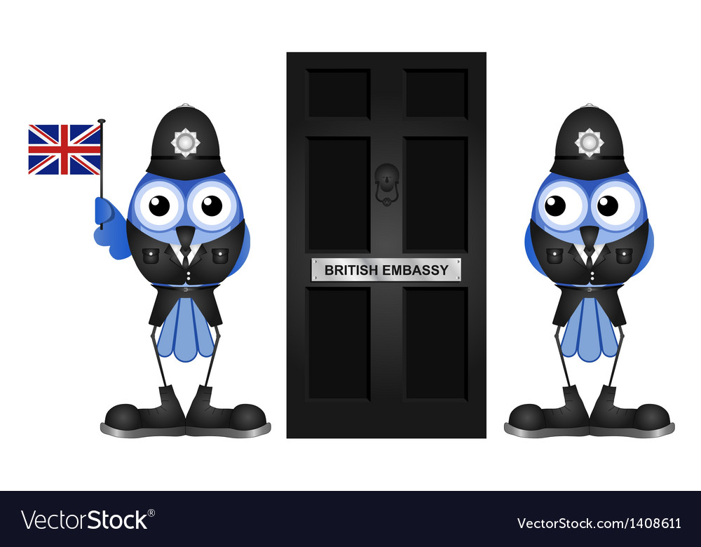 British embassy vector | Price: 1 Credit (USD $1)