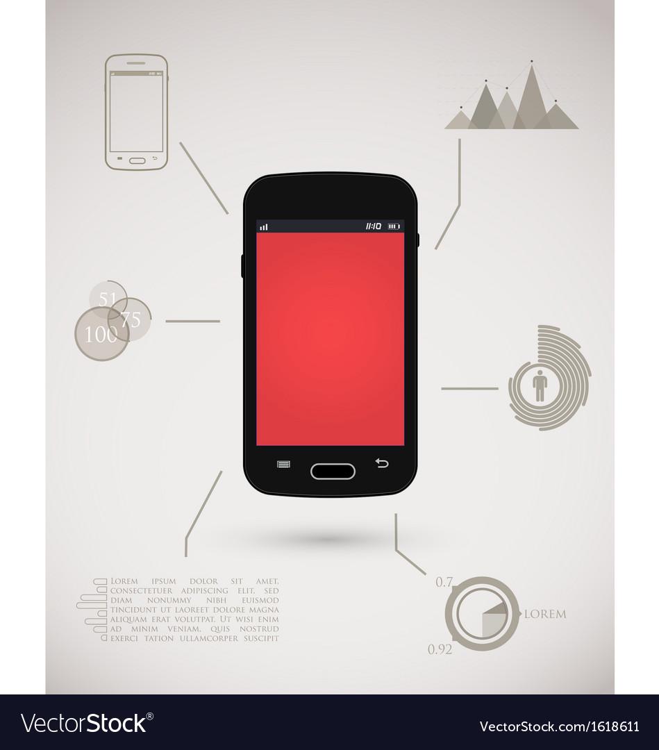 Smart phone inforgraphic vector