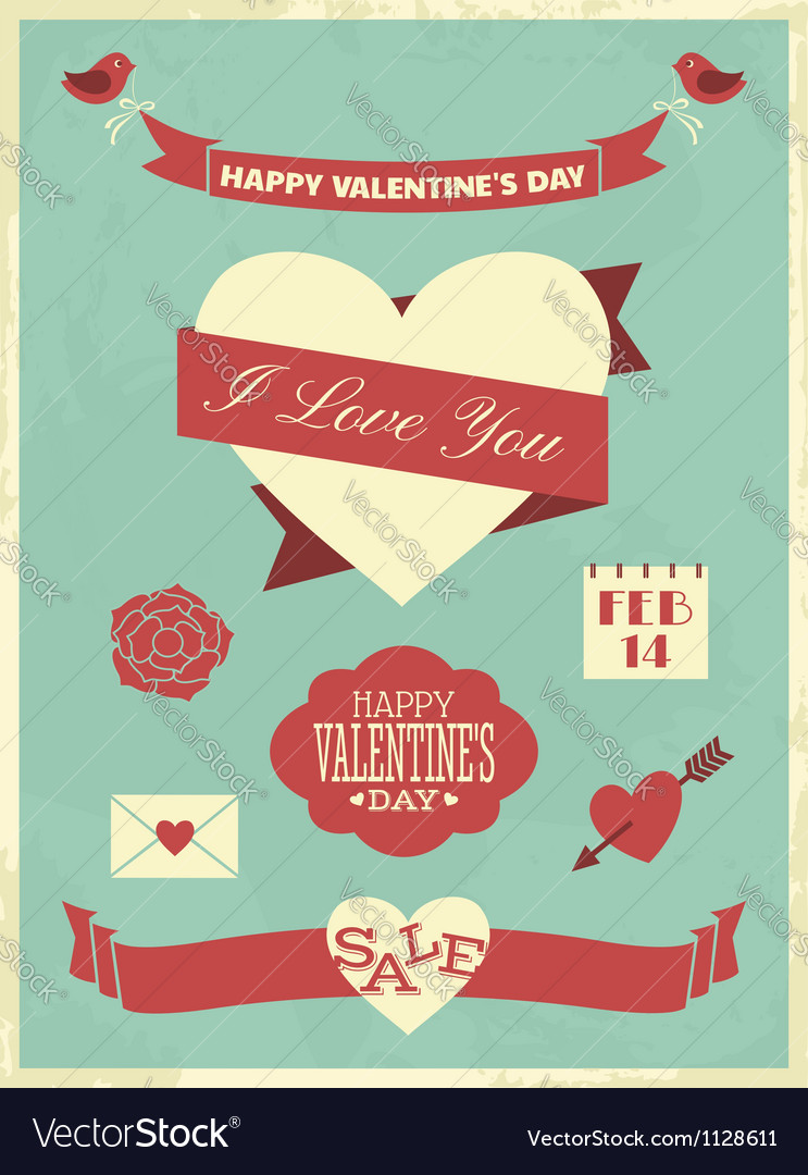 Valentines day collection vector | Price: 1 Credit (USD $1)