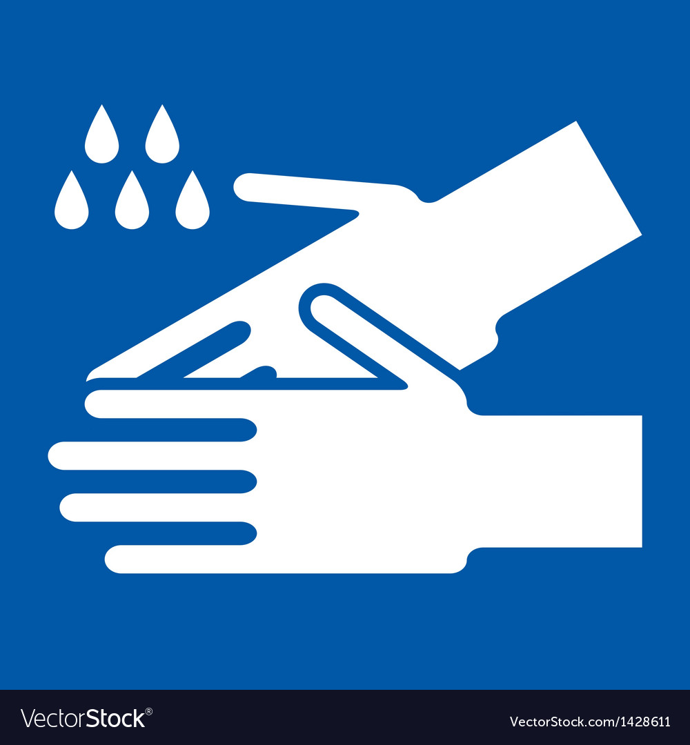Wash hands sign vector