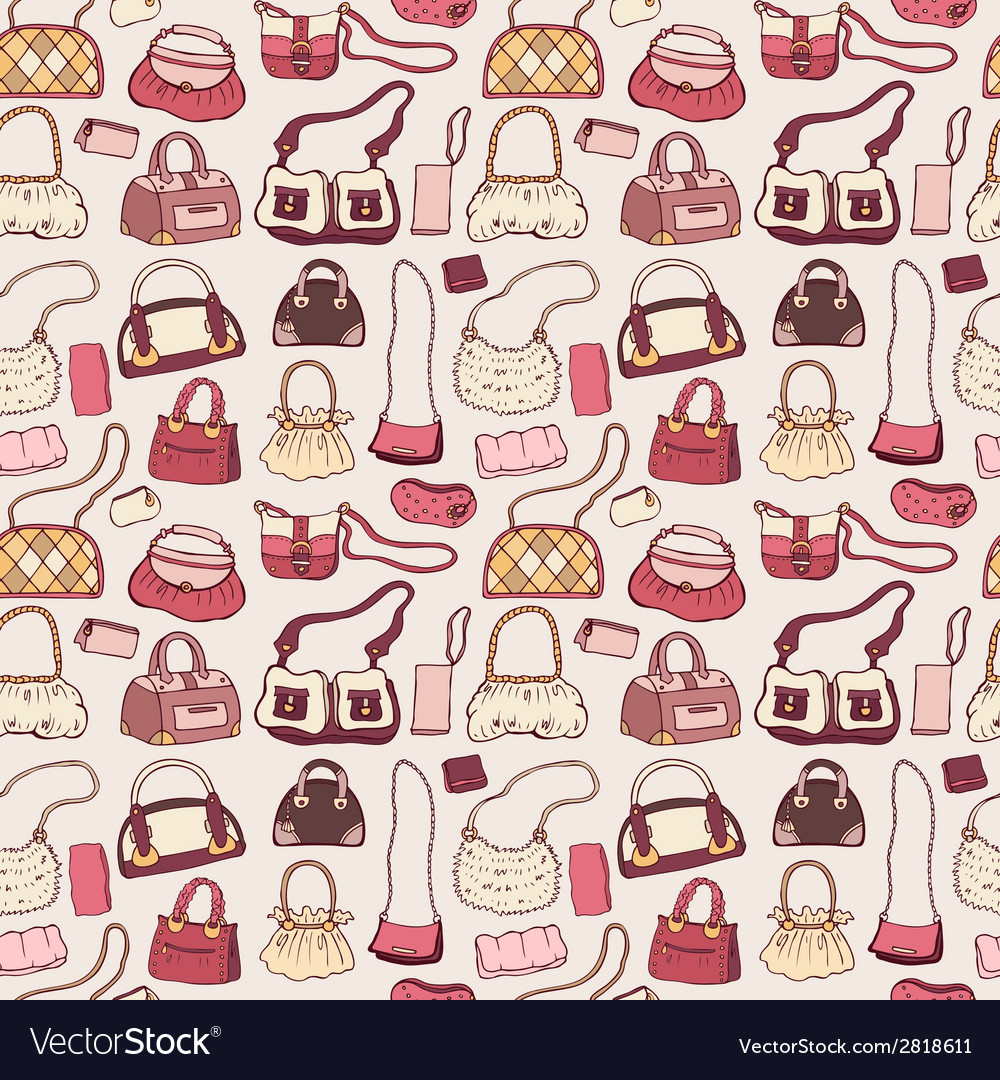 Women handbags seamless pattern vector | Price: 1 Credit (USD $1)