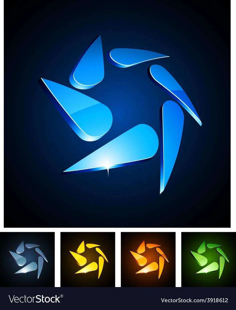 3d swirl emblems vector | Price: 1 Credit (USD $1)