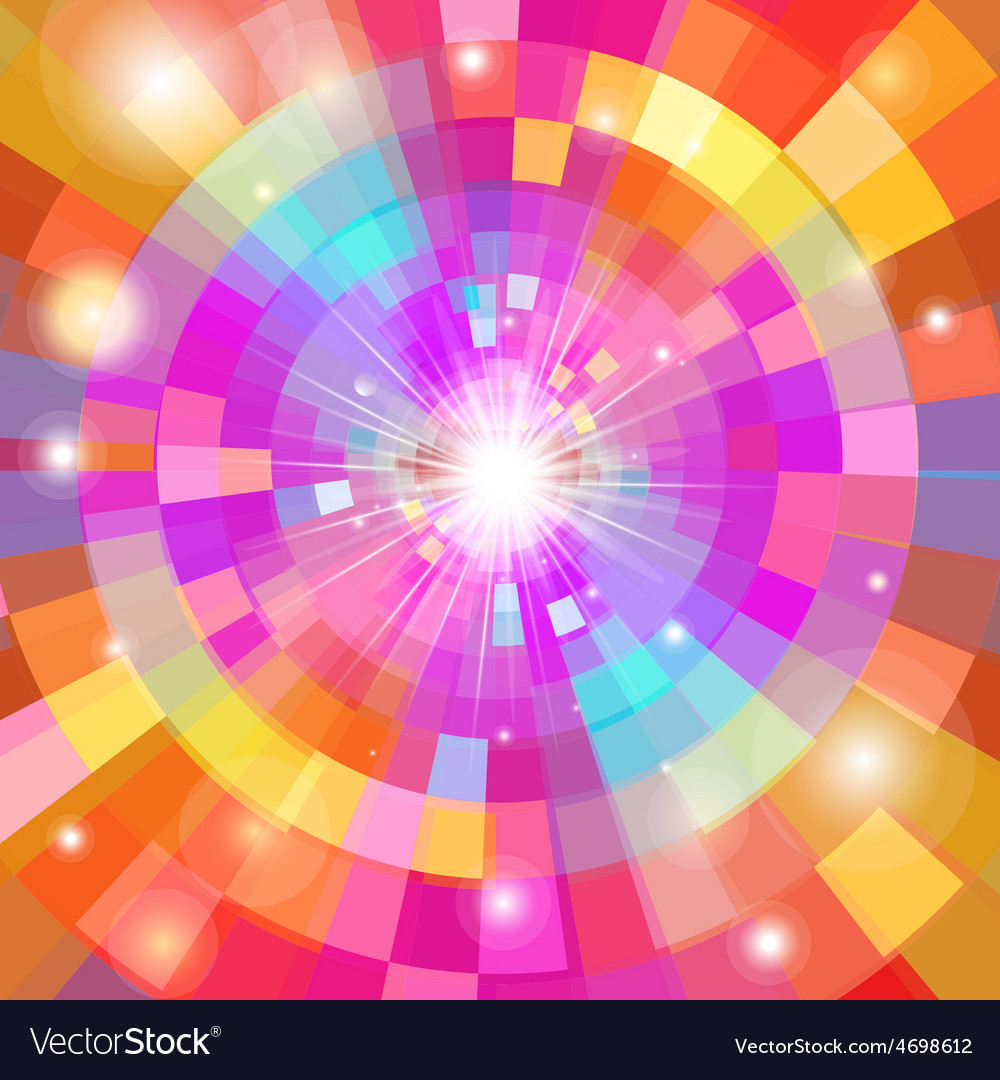 Abstract colorful background with sun vector | Price: 1 Credit (USD $1)