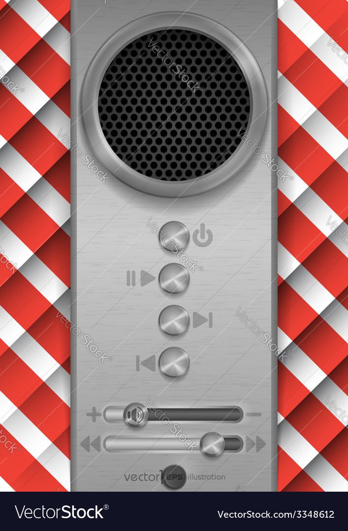 Abstract speaker concept design vector | Price: 1 Credit (USD $1)