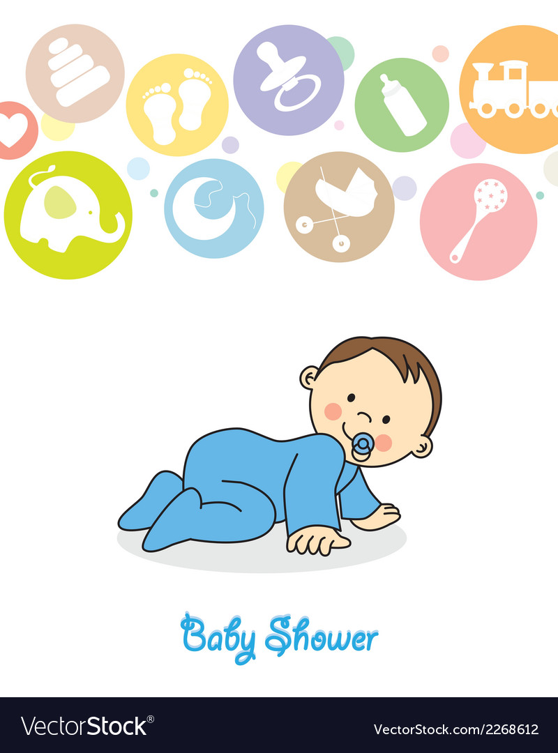 Baby boy crawling vector | Price: 1 Credit (USD $1)