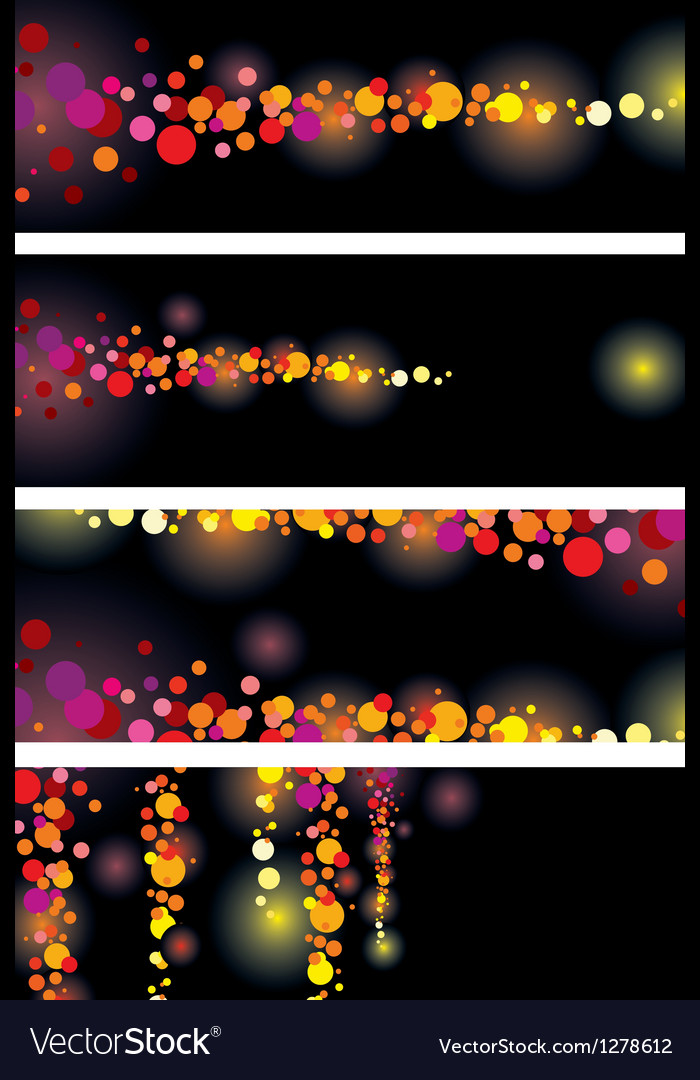 Color leaflet glamorous nights vector | Price: 1 Credit (USD $1)