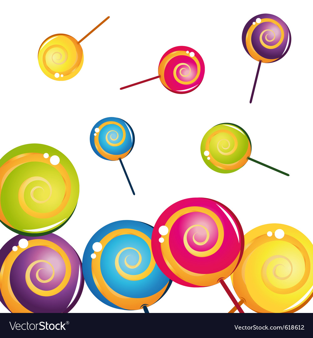 Colorful delicious lollipop collection vector | Price: 1 Credit (USD $1)