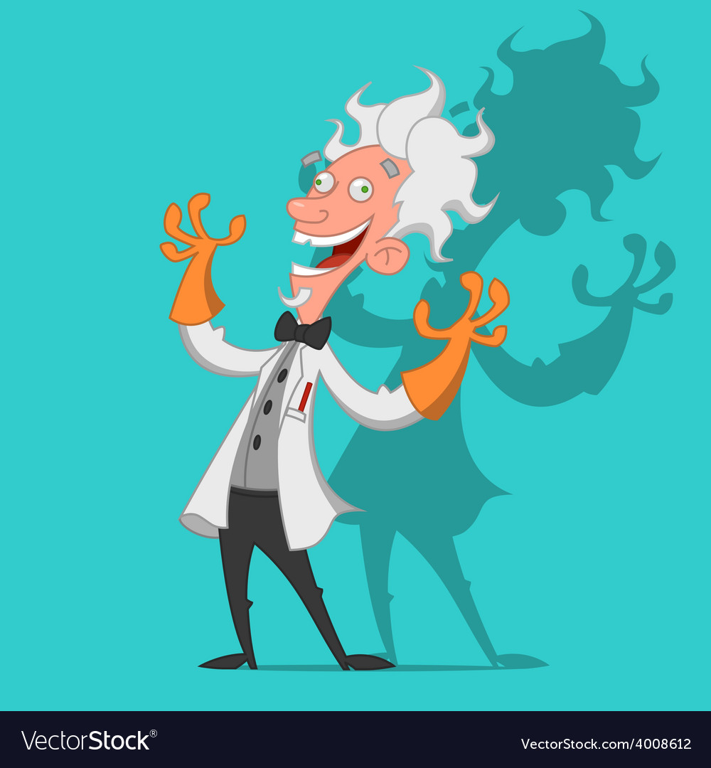 Crazy scientist vector | Price: 1 Credit (USD $1)