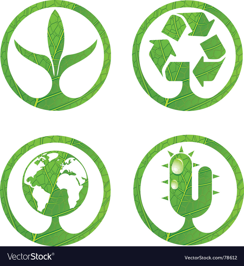 Eco signs vector | Price: 1 Credit (USD $1)