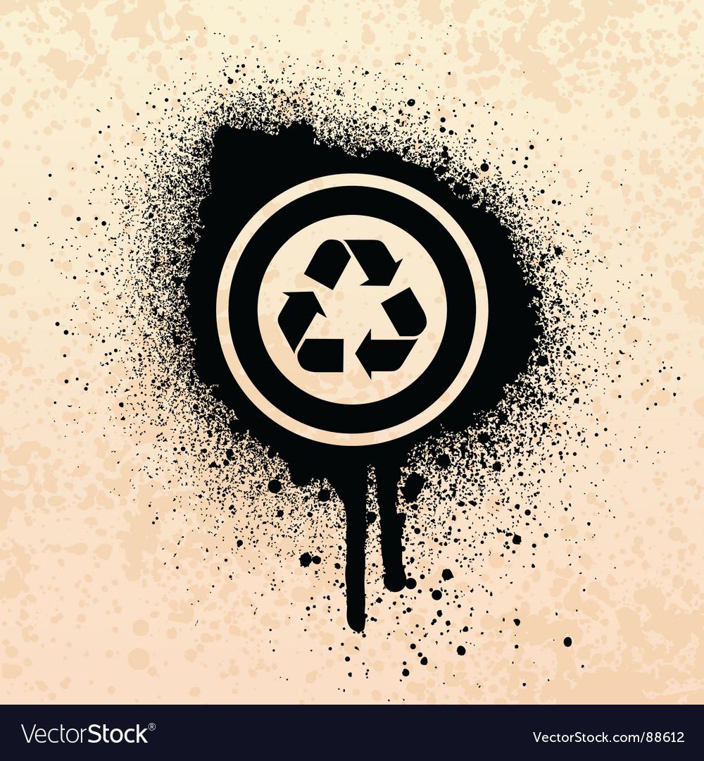 Graffiti recycle symbol vector | Price: 1 Credit (USD $1)
