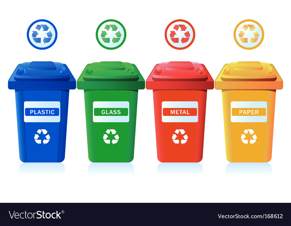 Recycling bins vector | Price: 1 Credit (USD $1)