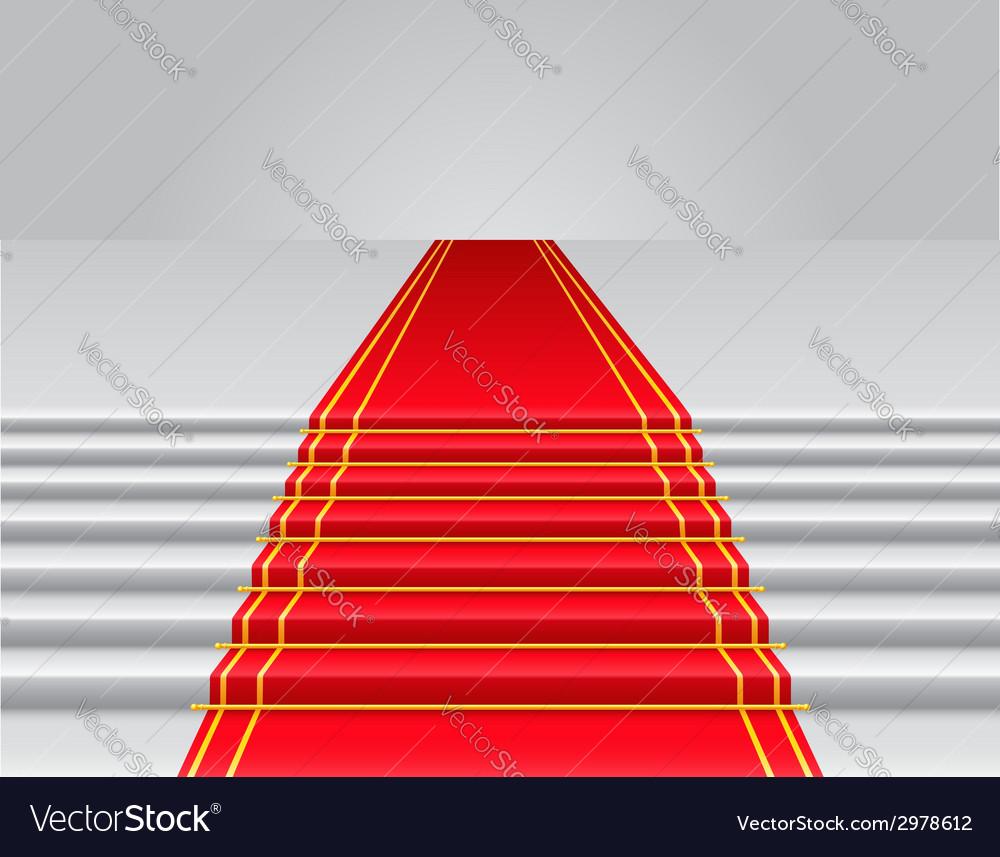 Red carpet 02 vector | Price: 1 Credit (USD $1)