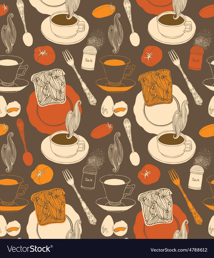 Vintage tea time background vector | Price: 1 Credit (USD $1)