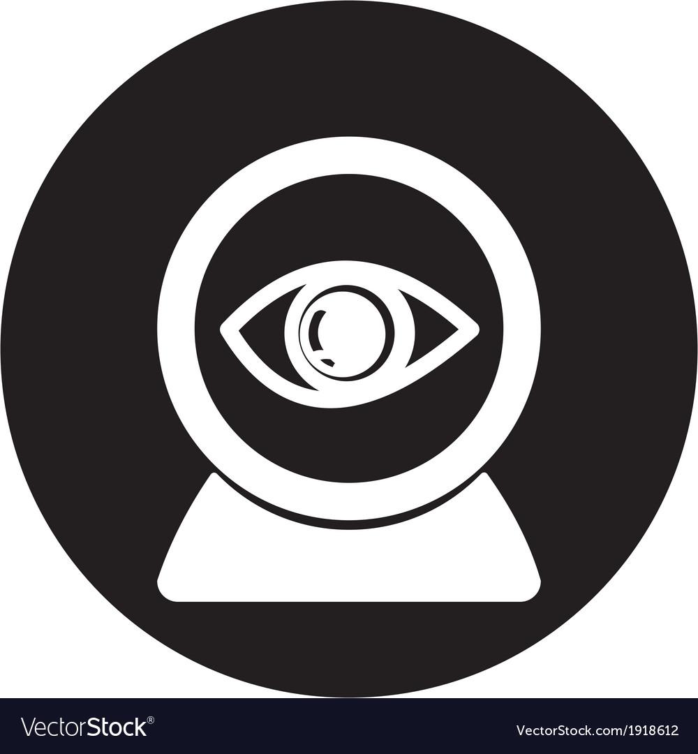 Web camera eye icon vector | Price: 1 Credit (USD $1)