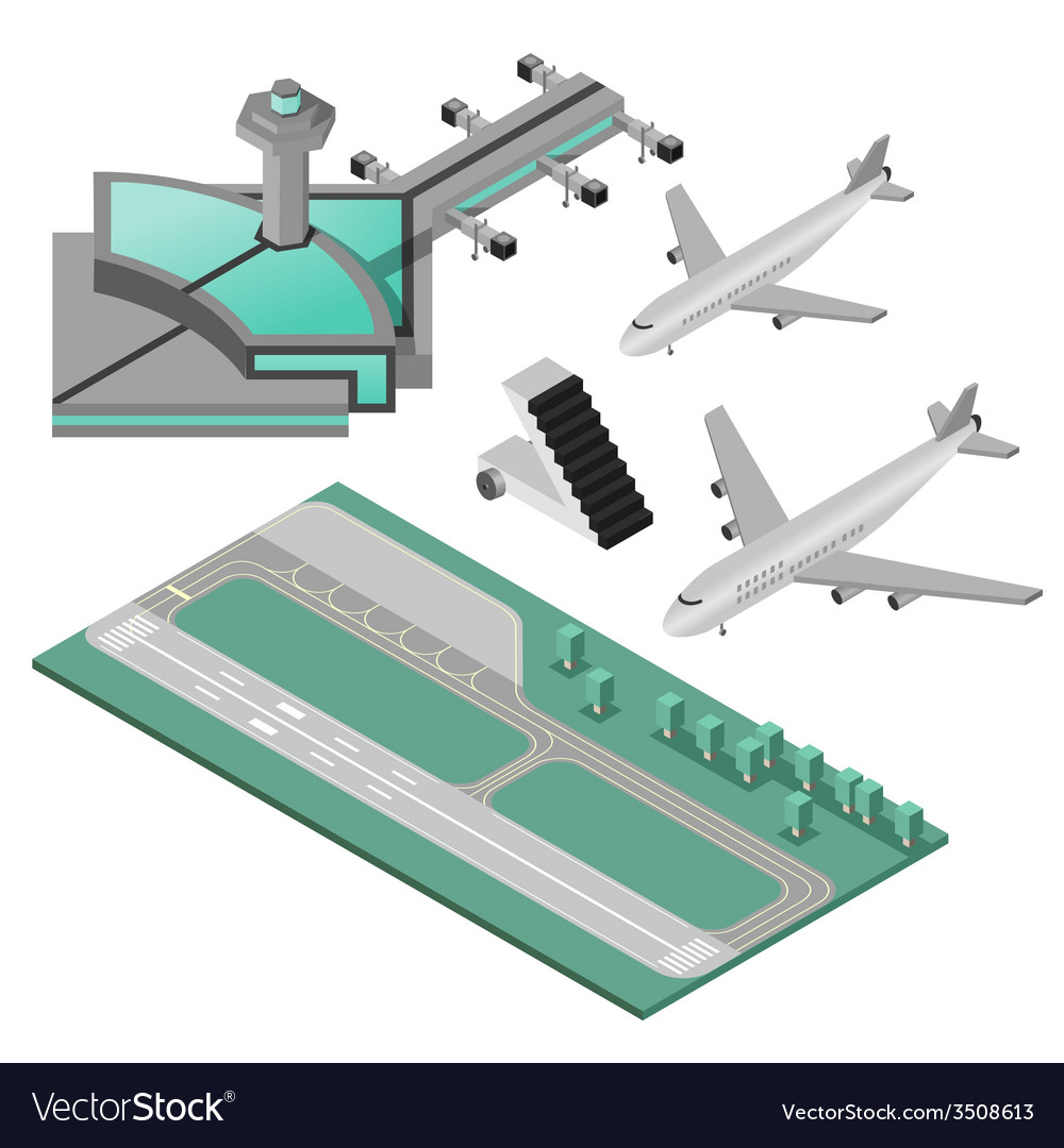 Airport icons set vector | Price: 1 Credit (USD $1)