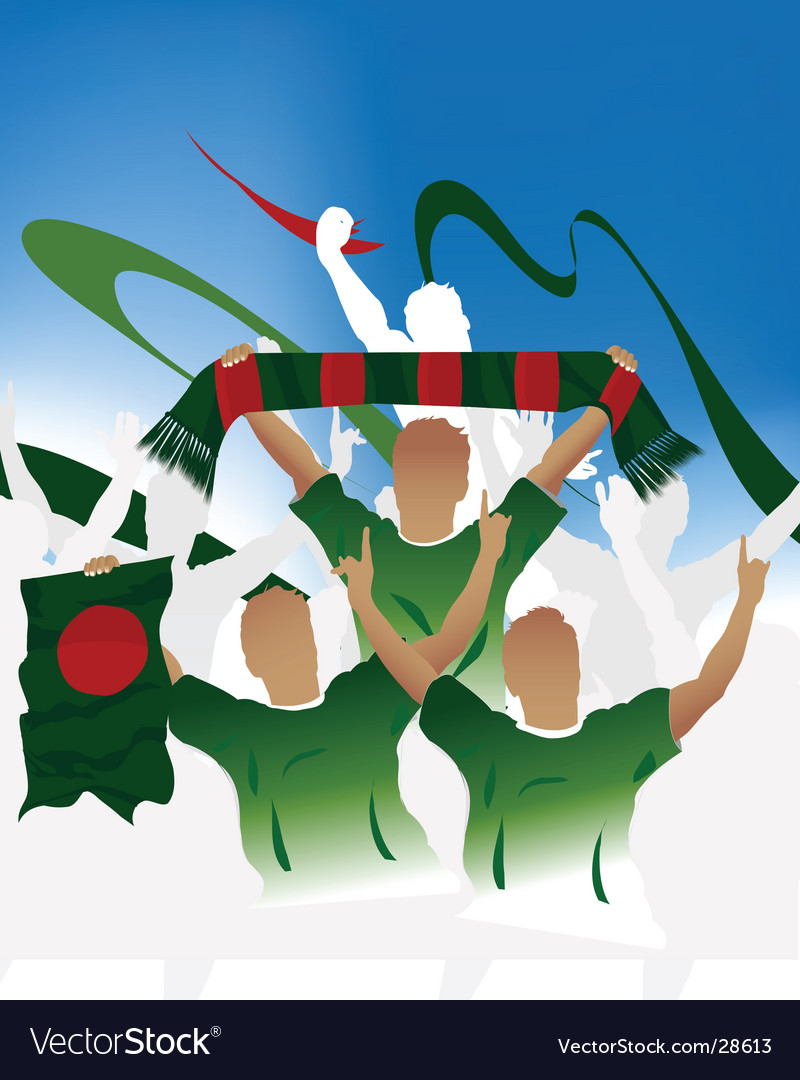Bangladeshi crowd bangladesh vector | Price: 1 Credit (USD $1)