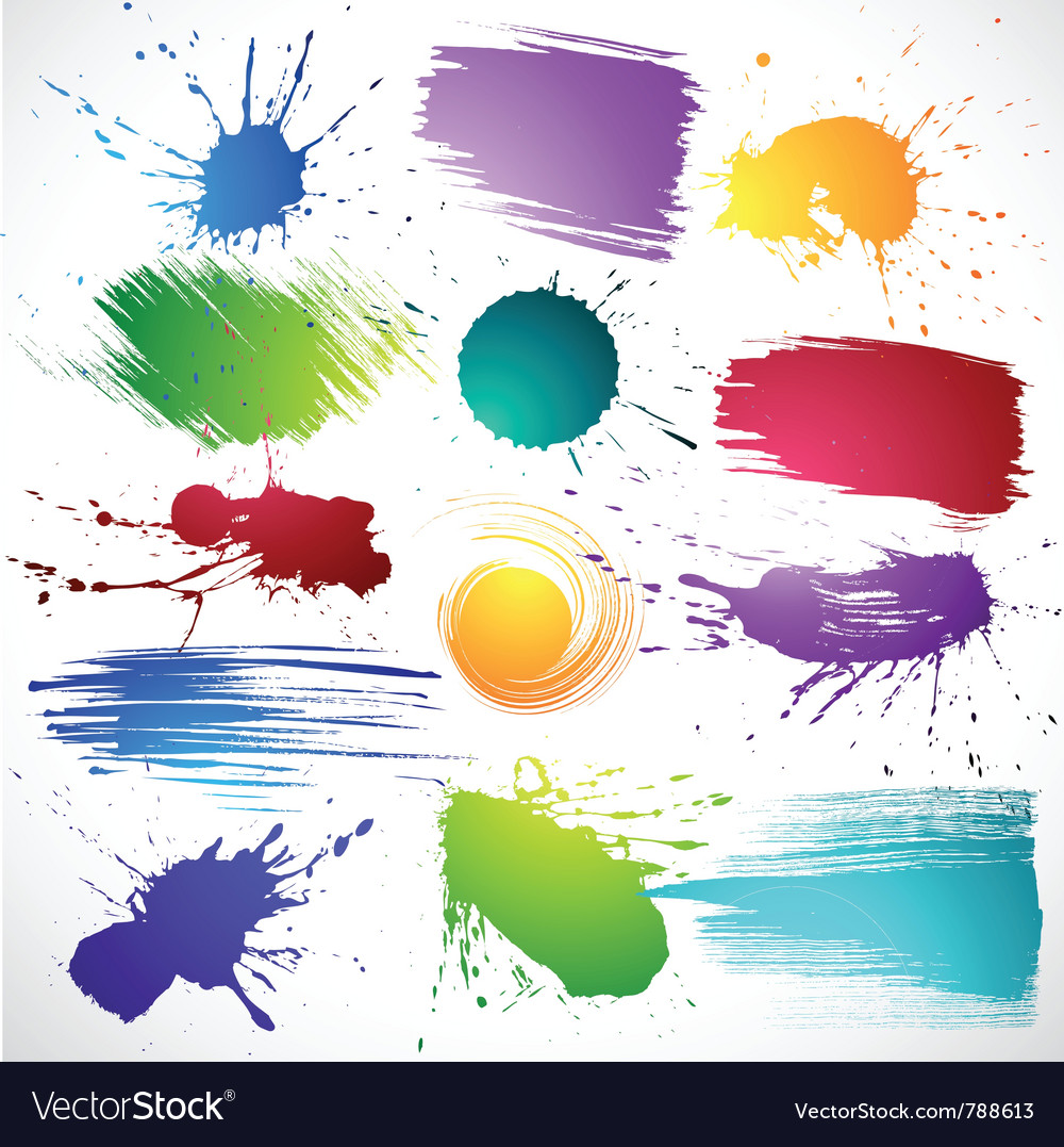Collection of brush strokes vector   Price: 1 Credit (USD $1)