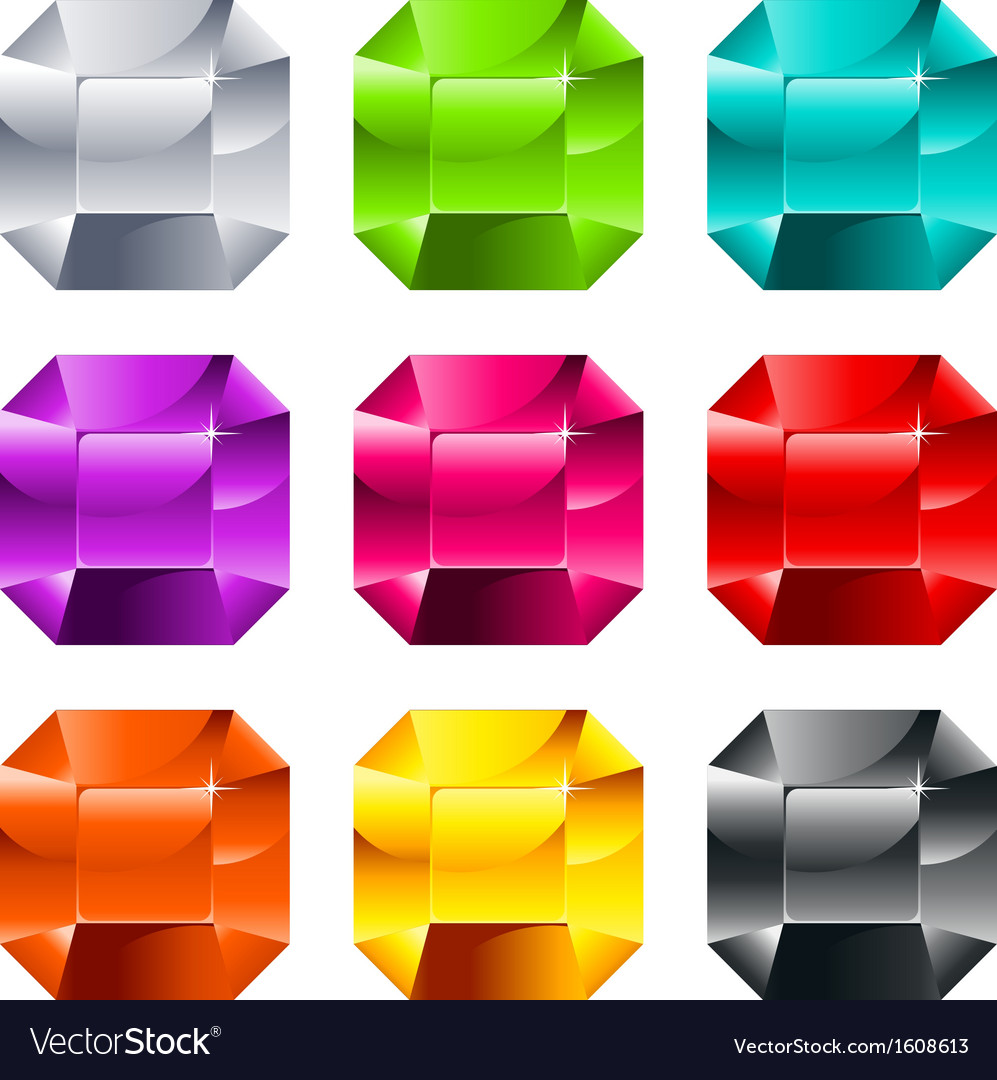 Colorful shiny jewels vector | Price: 1 Credit (USD $1)