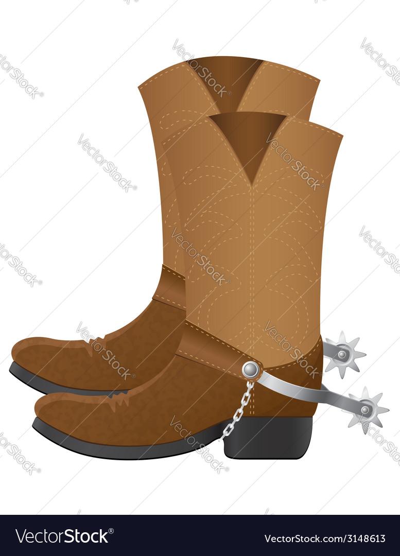 Cowboy boots vector   Price: 1 Credit (USD $1)