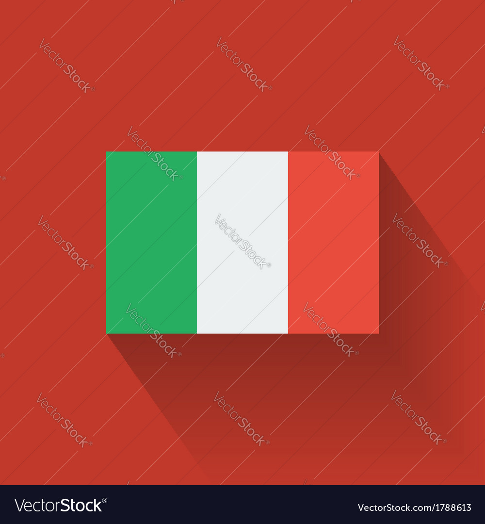 Flat flag of italy vector | Price: 1 Credit (USD $1)
